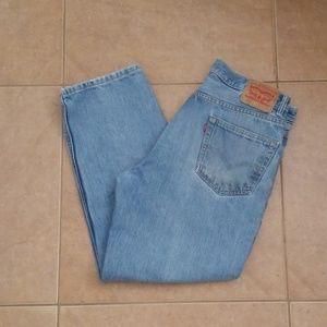 Mens 550 Light Blue Jeans 36x29